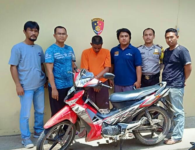 Curi Motor di Parkiran,Mustakim di Tangkap Polisi