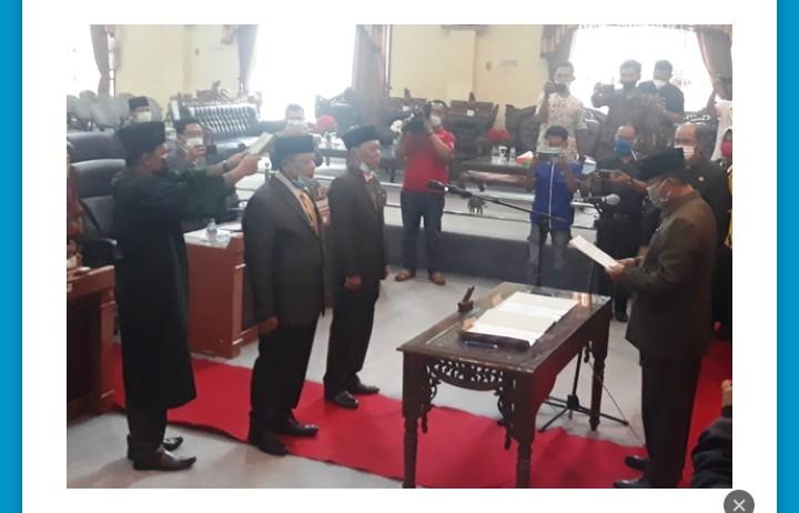 Faizal dan Syafrul Resmi Menjabat DPRD Lamtim