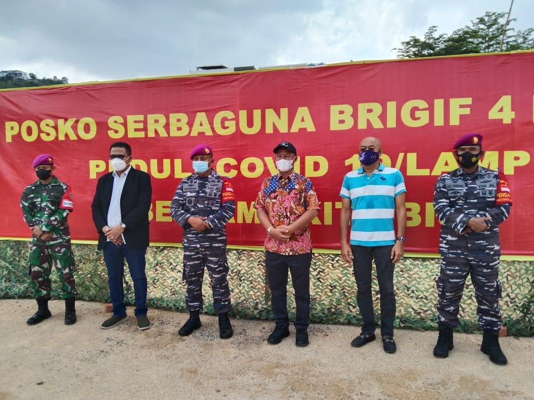 Anggota DPR RI Komisi I Mukhlis Basri Apresiasi Dapur Umum Brigif 4 Marinir/BS Lampung