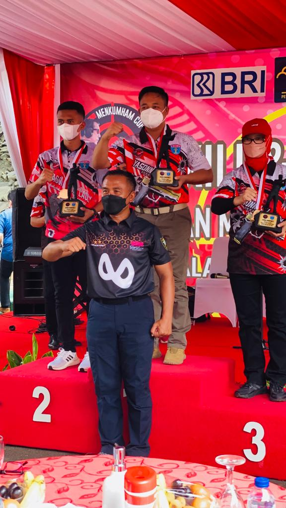 Kepala Lapas Gunung Sugih Sabet Juara 1 Kejuaraan Menembak 'Skill and Challenge Menkumham Cup 2021'